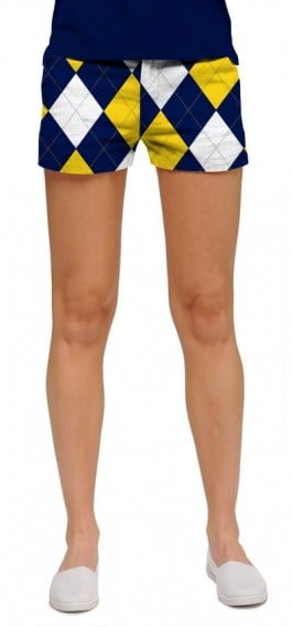 Blue & Gold Mega StretchTech Women's Mini Short MTO