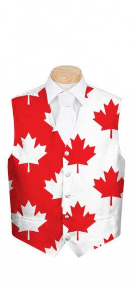 Canada Maple Leaf StretchTech Men's Vest MTO