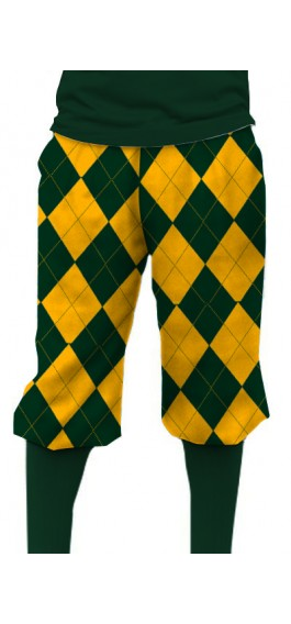 Hunter Green & Gold Mega Knickerbockers MTO