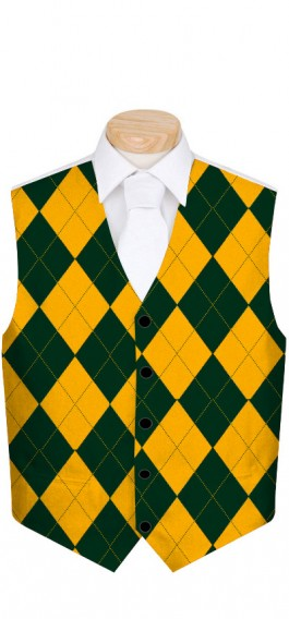 Hunter Green & Gold Mega Men's Vest MTO