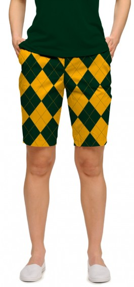 Hunter Green & Gold Mega Women's Bermuda Short MTO