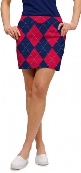 Navy & Red Mega StretchTech Women's Skort/Skirt MTO