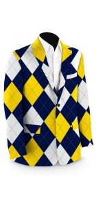 Blue & Gold Mega StretchTech Men's Sport Coat MTO