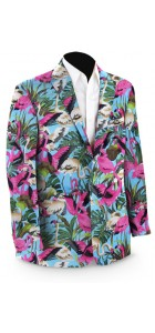 Pink Flamingos Men's Sport Coat MTO