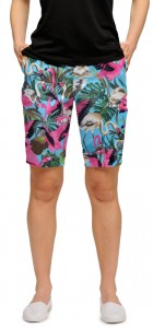 Pink Flamingos Women's Bermuda Short MTO