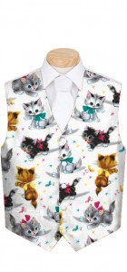 Cute Little Pussy Cats Men's Vest MTO