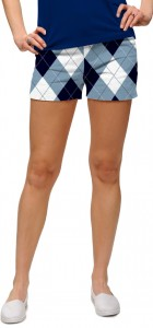 Blue & White Women's Mini Short MTO