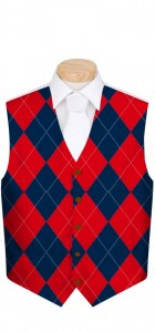 Navy & Red Mega StretchTech Men's Vest MTO