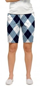 Blue & White Women's Bermuda Short MTO