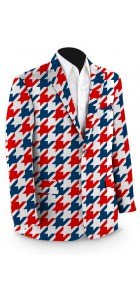 Red & Blue Tooth Men's Sport Coat MTO