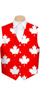 Canada Maple Leaf Red StretchTech Men's Vest MTO