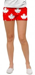 Canada Maple Leaf Red StretchTech Women's Mini Short MTO
