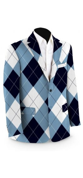Blue & White Men's Sport Coat MTO