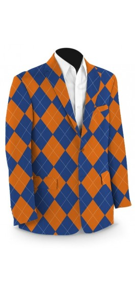Orange & Blue Mega StretchTech Men's Sport Coat MTO