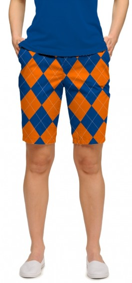 Orange & Blue Mega StretchTech Women's Bermuda Short MTO