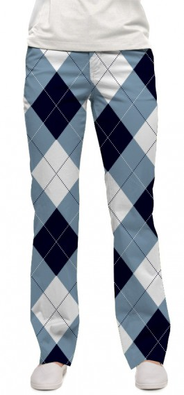 Blue & White Women's Capri/Pant MTO