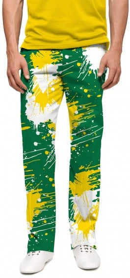 Green & Gold Paint Men's Pant MTO