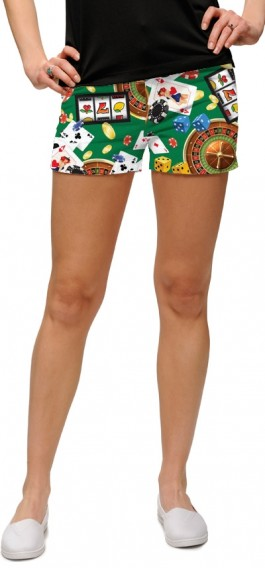 Jackpot Green StretchTech Women's Mini Short MTO
