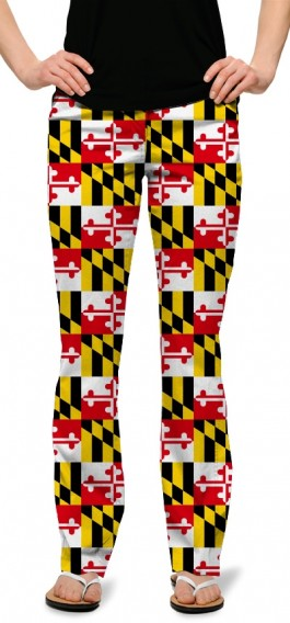 Maryland Flag StretchTech Women's Capri/Pant MTO