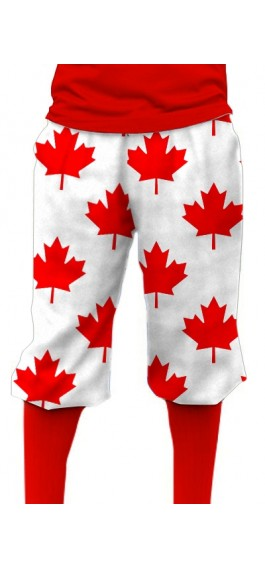 Canada Maple Leaf White StretchTech Knickerbockers MTO