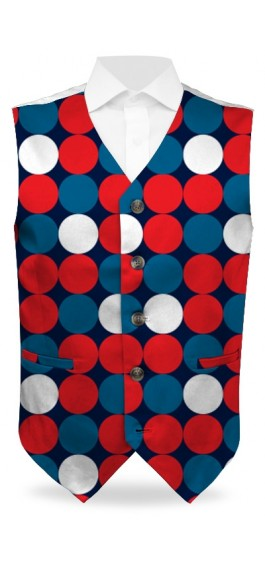 Disco Balls Red StretchTech Men's Vest MTO