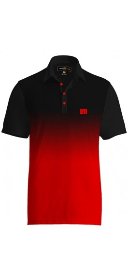 Fancy Ombre Red Black Shirt