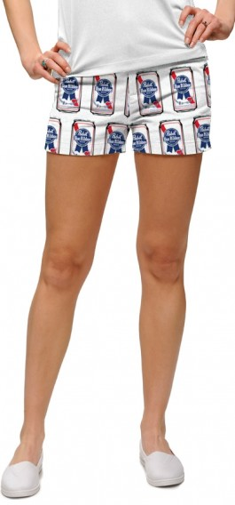 .Pabst Blue Ribbon Cans Women's Mini Short MTO