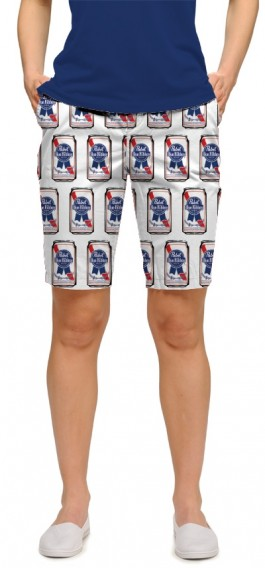 .Pabst Blue Ribbon Cans Women's Bermuda Short MTO