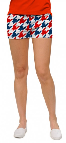 Red & Blue Tooth Women's Mini Short MTO