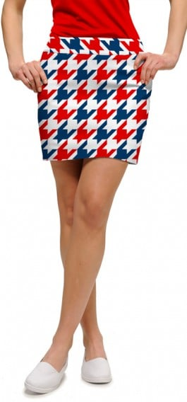 Red & Blue Tooth Women's Skort/Skirt MTO