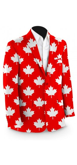 Canada Maple Leaf Red StretchTech Men's Sport Coat MTO