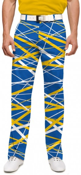 Stix Blue & Gold StretchTech Men's Pant MTO
