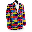 Disco Balls Black Men's Sport Coat MTO