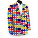 Disco Balls White Men's Sport Coat MTO