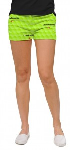 Big Golf Ball Green StretchTech Women's Mini Short MTO