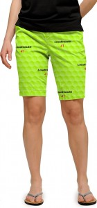 Big Golf Ball Green StretchTech Women's Bermuda Short MTO