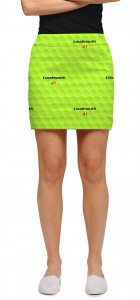 Big Golf Ball Green StretchTech Women's Skort/Skirt MTO
