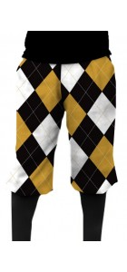 Black & Gold Argyle StretchTech Knickerbockers MTO