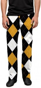 Black & Gold Argyle StretchTech Men's Pant MTO