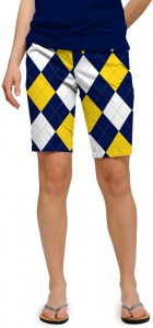 Blue & Gold Mega StretchTech Women's Bermuda Short MTO