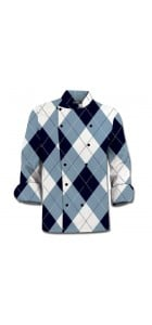 Blue & White Chef Coat MTO