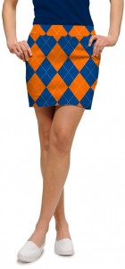 Orange & Blue Mega StretchTech Women's Skort/Skirt MTO