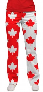 Canada Maple Leaf StretchTech Women's Capri/Pant MTO
