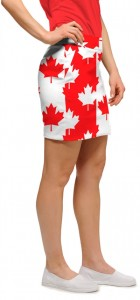 Canada Maple Leaf StretchTech Women's Skort/Skirt MTO