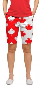Canada Maple Leaf StretchTech Women's Bermuda Short MTO