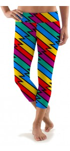 Captain Thunderbolt Capri Active Leggings