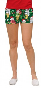 Christmas Pigs StretchTech Women's Mini Short MTO