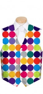 Disco Balls White Men's Vest MTO