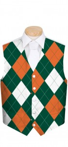 Orange & Green Men's Vest MTO