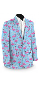 .Flamingo Christmas StretchTech Men's Sport Coat MTO